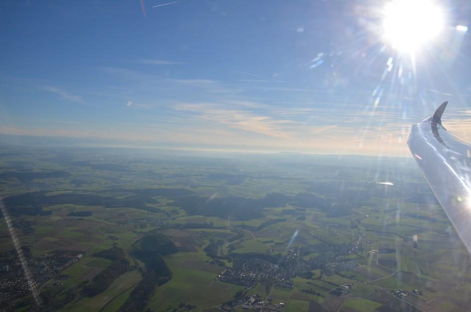 Alpennordseite mit Bodensee und Oberschwaben