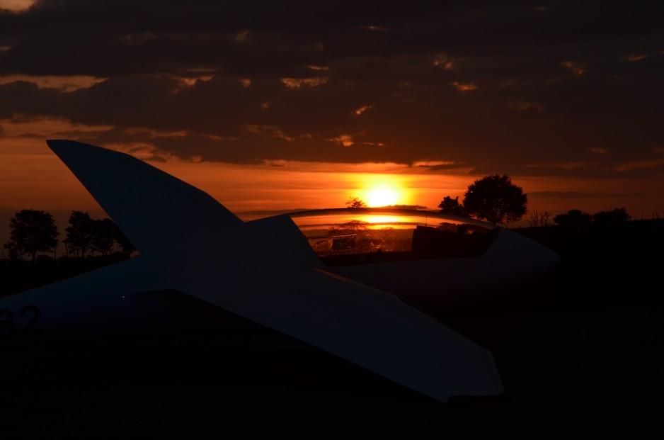 Dsicus vor Sonnenuntergang