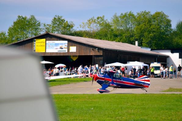 Flugtag 2017 Segelflug Biberach Start Doppeldecker