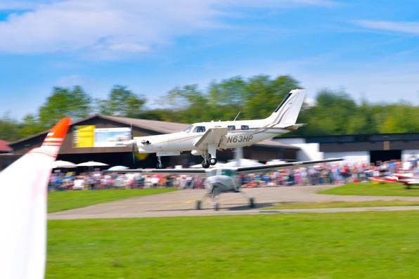 Flugtag 2017 Segelflug Biberach Landung Turbine