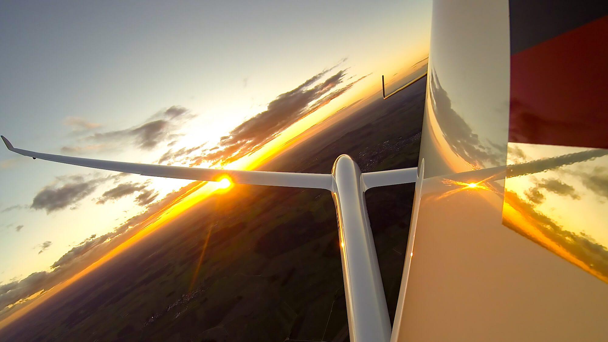 Gopro Duo Discus Seitenruder Federsee LSV Biberach Abteilung Segelflug