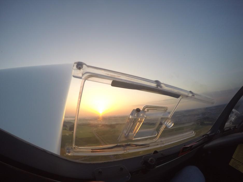 Notsichtfenster Sonnenuntergang