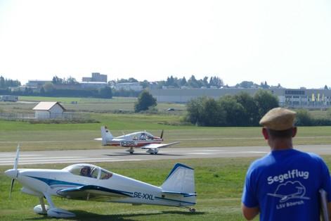 Landung Remo DR400 Flugtag Biberach