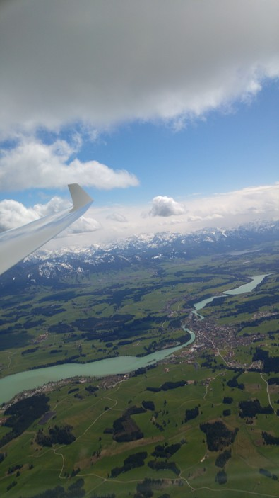 Segelflug Alpen Hochgrat Sonthofen